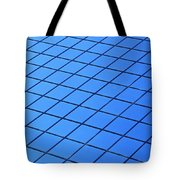 Symmetrical Pattern Of Blue Squares Tote Bag