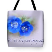 Sympathy Card - Blue Wildflower Tote Bag