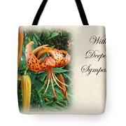 Sympathy Greeting Card - Wildflower Turk's Cap Lily Tote Bag