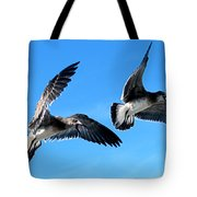 Synchronized Flying Tote Bag