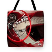 T-bird Interior Tote Bag by Dennis Hedberg