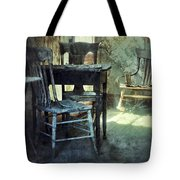 Table And Chairs Tote Bag by Jill Battaglia