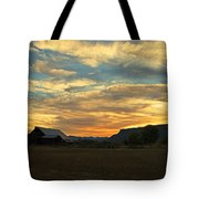 Table Rock Sunset And Barn Tote Bag