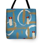 Tables Chairs And Stories Tote Bag