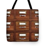 Tagged Drawers Tote Bag