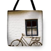 Tahtched Cottage And Bike Tote Bag
