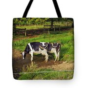 Tail Of Two Cows Tote Bag