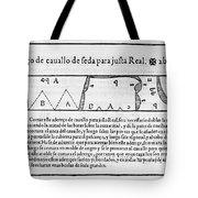 Tailors Pattern Book, 1589 Tote Bag