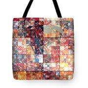 Take Me Geometric Red Tote Bag