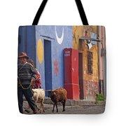 Taking Sheep To Market At Chichicastenango Tote Bag
