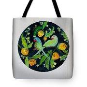 Talkative Parakeets Tote Bag