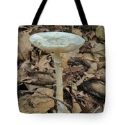Tall Green Amanita Mushroom Tote Bag
