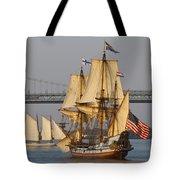 Tall Ship Five Tote Bag