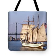 Tall Ship Three Tote Bag