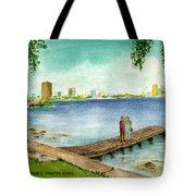 Tampa Fl Little Pier At Ballast Point Tote Bag