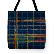 Tangerine Plaid Tote Bag by Bonnie Bruno