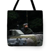 Tank Commander Of A Leopard 1a5 Mbt Tote Bag
