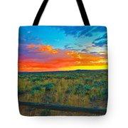 Taos Sunset Ix Tote Bag