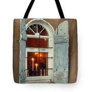 Taos Window With Candlelight Tote Bag