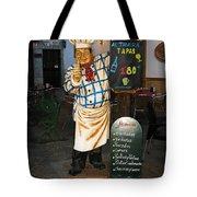 Tapas Man In Spain Tote Bag