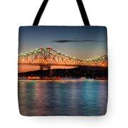 Tappan Zee Bridge Twilight I Tote Bag