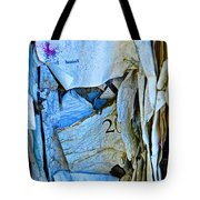 Tattered Paper On A Bulletin Board No.1045 Tote Bag