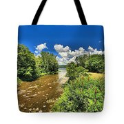 Taughannock Falls Creek Tote Bag
