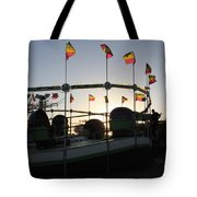 Tea Cups At Sunset Tote Bag