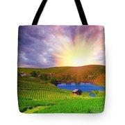 Tea Plantation Tote Bag
