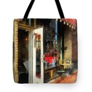 Tea Room In Sono Norwalk Ct Tote Bag by Susan Savad