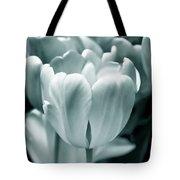 Teal Luminous Tulip Flowers Tote Bag