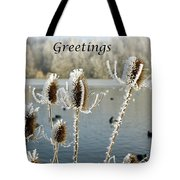 Teasel With Frost Tote Bag