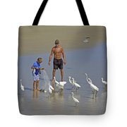 Teasing The Birds Tote Bag