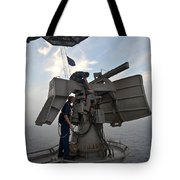 Technicians Performs Maintenance Tote Bag