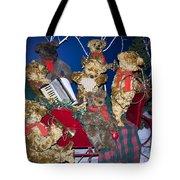 Teddy Bear Band Christmas Tote Bag