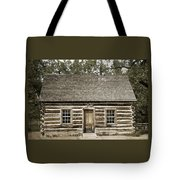 Teddy Roosevelt's Maltese Cross Log Cabin Retro Style Tote Bag