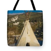 Teepee In The Snow 2 Tote Bag