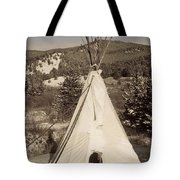 Teepee In The Snow Tote Bag