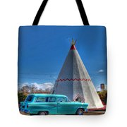 Teepee On Route 66 Tote Bag