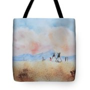 Teepees - Watercolor Tote Bag