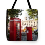 Telephone And Mail Box Tote Bag