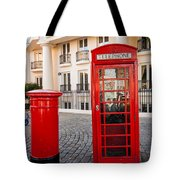 Telephone And Post Box Tote Bag