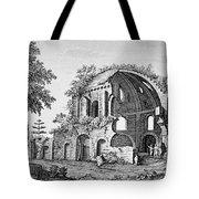 Tempio Di Minerva Medica In Roma, 18th Tote Bag by Photo Researchers