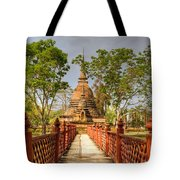 Temple Bridge Tote Bag