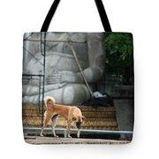 Temple Dog And Buddha Tote Bag