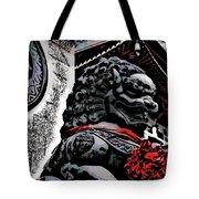 Temple Lion Tote Bag