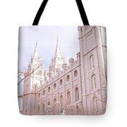 Temple Mormon In Temple Square Tote Bag