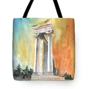 Temple Of Apollo In Kourion Tote Bag