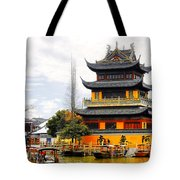 Temple Pagoda Zhujiajiao - Shanghai China Tote Bag