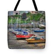 Tenby Harbour In Summer 3 Tote Bag